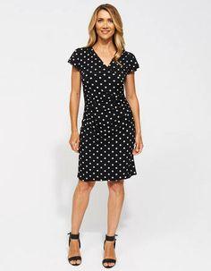 Felicity Flutter Knit Dress from JacquiE