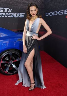 Pin for Later: We've Already Found Your New Style Icon, and Her Name Is Gal Gadot Statement-leg? Gal's a fan! She showed off her stems at the premiere of Fast & Furious 6, wearing an ombré dress.