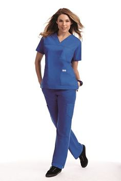 Scrub Set : 3 Pocket V-Neck Scrub Top, with Flip Flap Scrub Pant Medical Uniforms, Work Uniforms, Nursing Uniforms, Cheap Scrubs, Womens Scrubs, Scrub Sets, Medical Scrubs, V Neck Tops, Peplum Dress