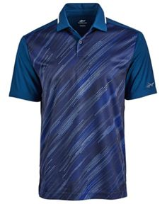Attack Life by Greg Norman Printed Performance Polo, Created for Macy's - Blue XL Greg Norman, Futuristic Architecture, Character Inspiration, What To Wear, Pullover, Stylish, Elba, Prints, Mens Tops
