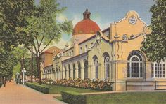 Quapaw Baths Hot Springs National Park, Arkansas, vintage postcard