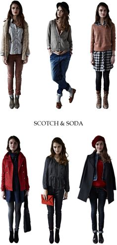 Scotch & Soda Fall/Winter 11 collection. Comfy casual, love it