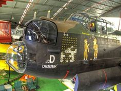 Lanc! The restored Lancaster Bomber, 'D' for Digger is in the RAAF Museum at Bull Creek, Perth, Western Australia