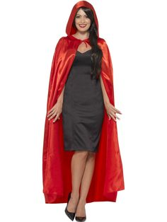 Smiffys 45529 Hooded Cape (One Size) Adult Fancy Dress, Halloween Fancy Dress, Halloween Party, Discount Makeup, Discount Shoes, Discount Price, Hooded Cloak, Hollister Hoodie, Navy Sweaters