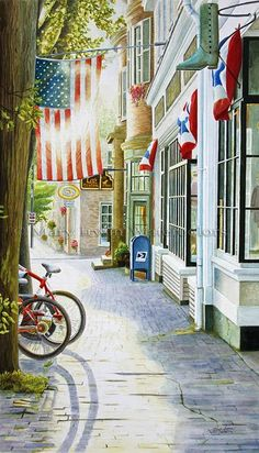 Love the old town, Americana look of this picture. Ville New York, Small Town America, Main Street America, God Bless America, New Hampshire, Rhode Island, Oh The Places You'll Go, Belle Photo, Small Towns