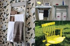 15 Creative Ideas To Repurpose And Upcycle Old Chairs  Awesome towel rack!