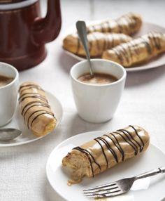 romige koffie eclairs