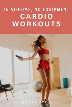 14 at-home cardio moves that will make you want to cancel your gym membership Beginner Workout At Home, Cardio Workout At Home, 10 Minute Workout, Workout For Beginners, At Home Workouts, Cardio Workouts, Fitness Exercises, Hiit, Back Fat Workout