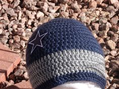 crochet dallas cowboys hat pattern | Beanie Hat for Dallas Cowboy lover by ... | Crochet/Knit That Can Ins ...