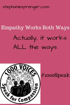 Is it harder to have compassion for others, or for ourselves? Joining forces with 1000 Voices Speak for Compassion.