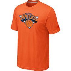 1bb7ea9345884 New York Knicks Big  amp  Tall Primary Logo Orange T-Shirt