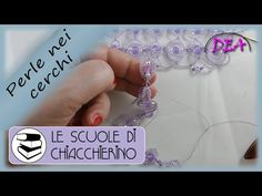 (494) Inserimento delle perle all'interno dei cerchi. Passo passo lentamente. - YouTube Fabric Flower Brooch, Fabric Flowers, Needle Tatting, Tatting Patterns, Crochet Videos, Shibori, Gothic Fashion, Collars, Diy And Crafts