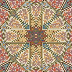 Islamic Painting Painting - Pattern Art 007 by Gull G