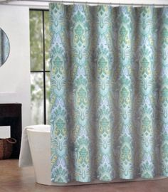 Kess InHouse Graphic Tabby Spring Breeze Yellow Photography 69 x 70 Shower Curtain