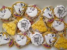 Beauty and the Beast Cookies two dozen by LuxeCookie on Etsy