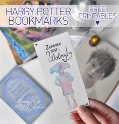 Harry Potter Bookmarks. Free prainables ♥