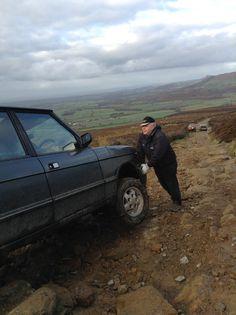 Classic Range Rover at a good angle