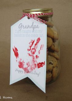 Cookie Thief Father's Day Gift with Kids Handprint