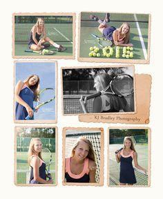 Senior Tennis Photo Session and Poses | KJ Bradley Photography