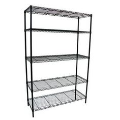 Style Selections 74-in H X 48-in W X 18-in D 5-tier Steel Freestanding Shelving…