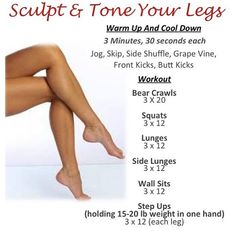 Sculpt and tone your legs