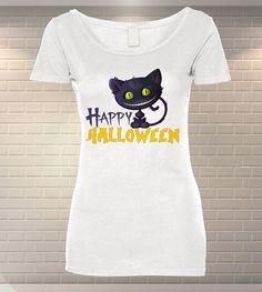 92df6eb3618 Tricou Dama Personalizat Halloween Cat