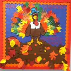 Thanksgiving board I did for Chris' teacher. Thanksgiving Bulletin Boards, November Bulletin Boards, Fall Bulletin Boards, Library Bulletin Boards, Diy And Crafts, Crafts For Kids, Arts And Crafts, Bulletin Board Design, Bullentin Boards