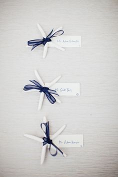 starfish place cards | Studio 222 Photography