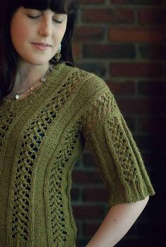Ravelry: Charli Lace Pullover pattern by Jessica Bolof