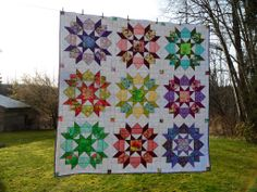 Beautiful swoon quilt by Cathy from the Blueberry Patch blog.  http://cathy-blueberrypatch.blogspot.com/  Pattern:  http://thimbleblossoms.bigcartel.com/