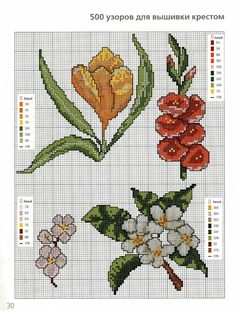 Point de croix Fleurs *m@* Cross stitch