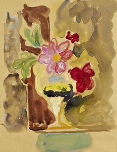 Vanessa Bell  Pink Flowers in a Vase