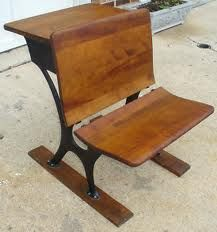 this type of desk would be perfect. on the back portion you could have little items such as an apple, pencils, etc
