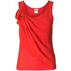 Vero Moda Lenea Sl Top ($25) ❤ liked on Polyvore featuring tops, shirts, tank tops, blusas, chiffon bow top, chiffon tank top, woven shirt, shirts & tops and chiffon tank