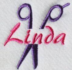 Salon Scissors Embroidery Frame Design | Apex Embroidery Designs, Monogram Fonts & Alphabets