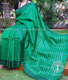 Elegant Tussar Silk Saree with woven borders