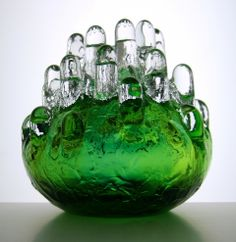 Goran Warff; Glass 'Urik' Vase for Kosta, 1970s.