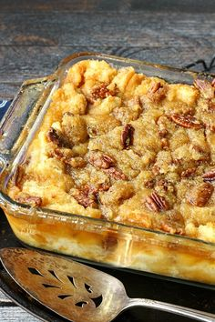 Pecan Pie Bread Pudding. This bread pudding dessert has a rich pecan pie topping. Serve it for breakfast as French toast gives you an excuse to eat pie for breakfast.