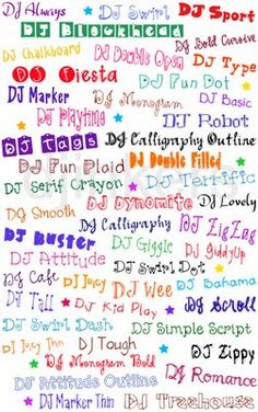 DJ Inkers fonts to buy