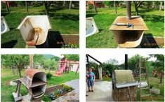 10 Creative Ideas to Reuse & Recycle Bathtub (Pictures) Garden Bathtub, Old Bathtub, Ways To Recycle, Reuse Recycle, Recycling, Bathtub Pictures, Home Design Images, Old Refrigerator, Flea Market Gardening