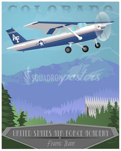 Share Squadron Posters for a 10% off coupon! USAFA Flying Team Cessna 150 #http://www.pinterest.com/squadronposters/
