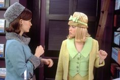 Renée Zellweger and Sarah Paulson in Down with Love Down With Love, Recent Movies, Renee Zellweger, Iconic Women, Costume Design, Classic Style, Love Her, Pin Up, Party Dress