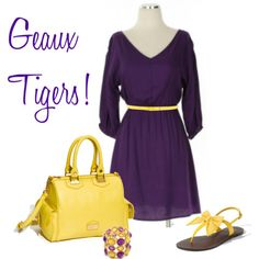 I really just love the purple and yellow together!