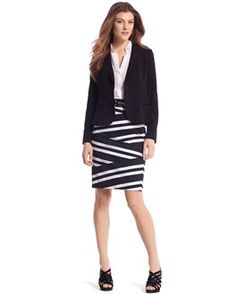 love this skirt - maybe with a white jacket too??