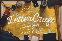 LetterCraft - Hand Lettering Kit - Layer Styles LetterCraft is a PSD kit that makes it easy to give your typographic work a hand crafted feel. This one-step pack lets you create beautiful typographic quotes or logo mock-ups fast.