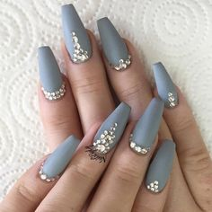 Matte nails are so pretty and elegant! If you are looking for nail designs… - http://makeupaccesory.com/matte-nails-are-so-pretty-and-elegant-if-you-are-looking-for-nail-designs-9/