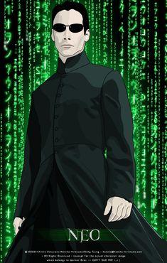 Keanu Reeves - Neo in the Matrix by Mifuyne on deviantART