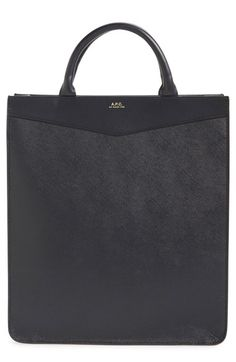 A.P.C. 'Cabas Rose' Leather Tote. #a.p.c. #bags #leather #hand bags #tote #