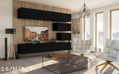 Media wall 8 part wall unit – concept 38 – high-gloss black – Fireplace Ideas 2020 Black Fireplace, Modern Fireplace, Fireplace Design, Fireplace Ideas, Diy Zimmer, Best Resume Template, Media Wall, High Gloss, The Unit