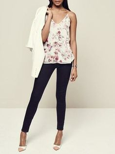 Trending for spring | Floral tank + denim